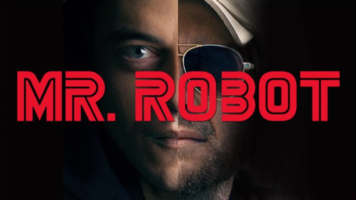 Mr Robot split face poster