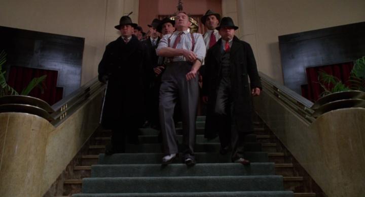 millers crossing walking down the stairs