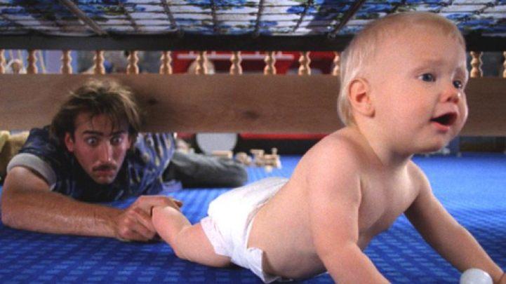 Raising Arizona baby under the crib