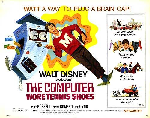 The computer wore tennis shoes movie poster