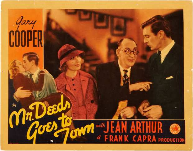Mr deeds goes to town movie poster original